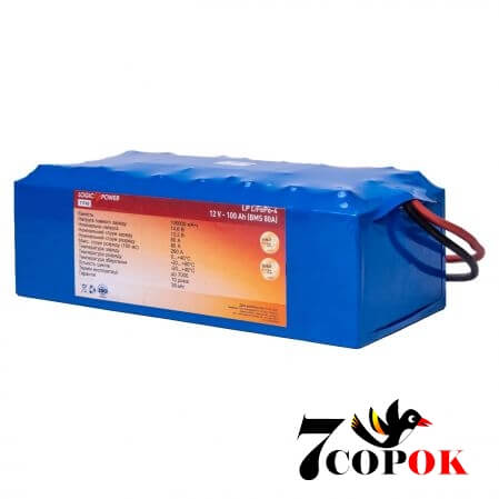 LogicPower LP LiFePo4 12V 100Ah BMS 80A
